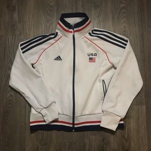 Vintage Womens USA Adidas Track Jacket